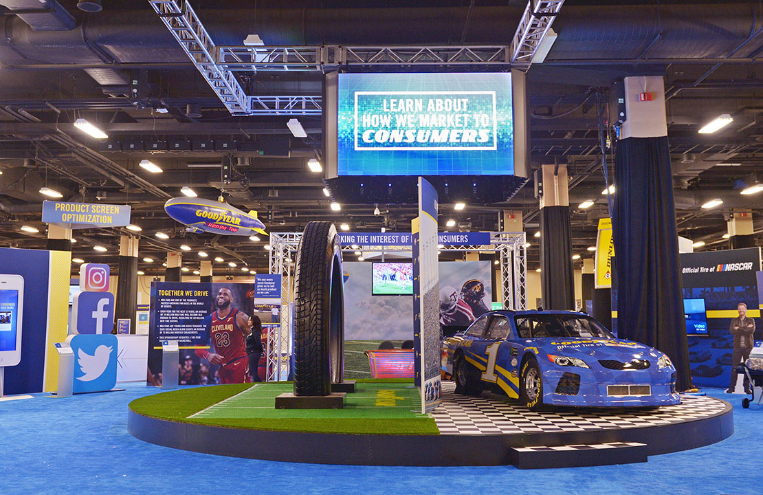 Goodyear Trade Show Exhibit with Nascar