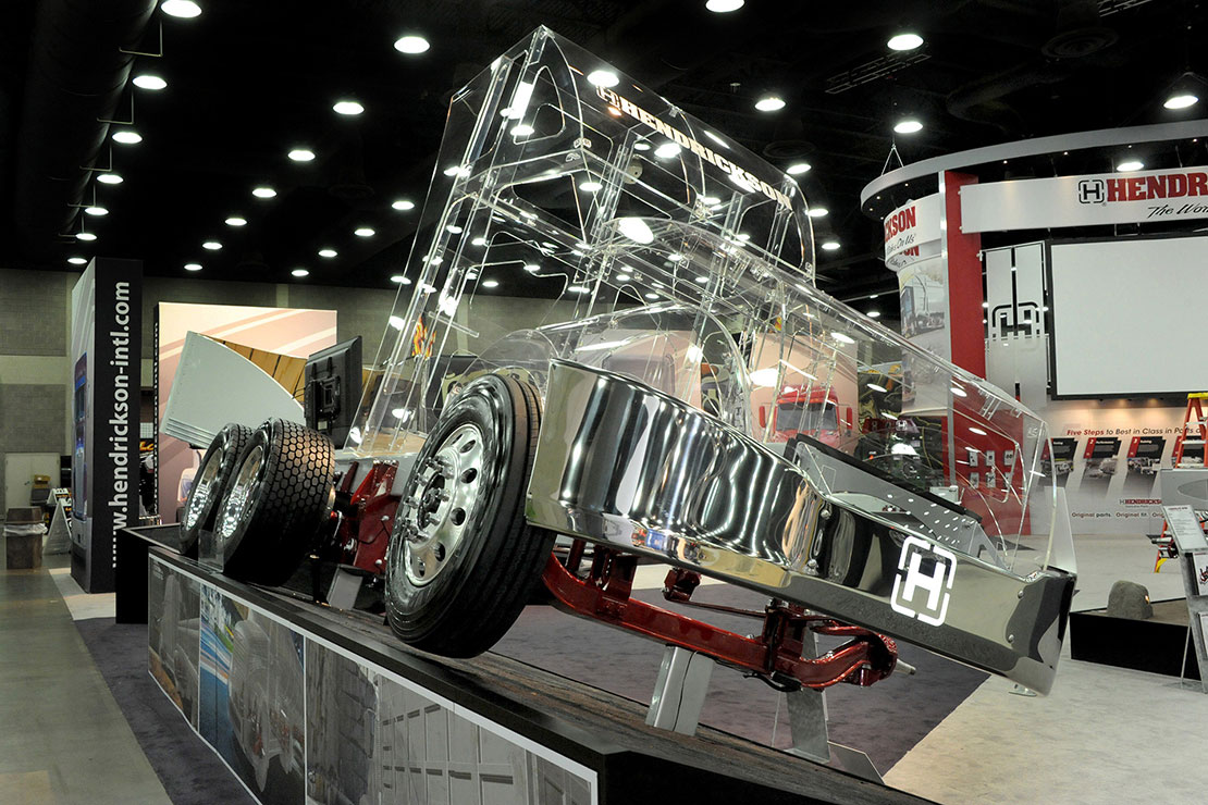 Hendrickson Transparent Truck Display