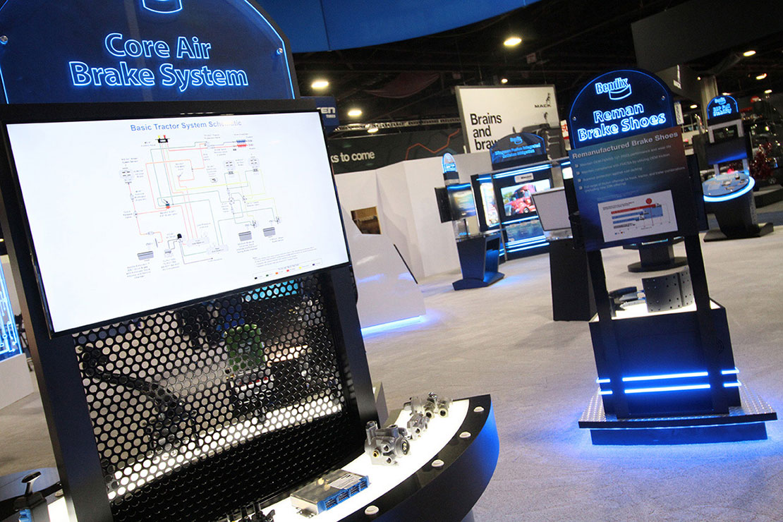 Bendix Trade Show Elements with Lighting
