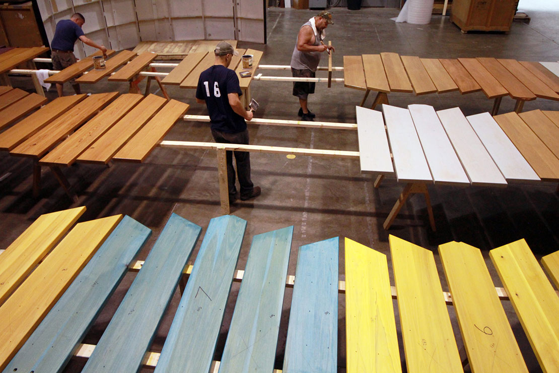 Painting Picnic Tables