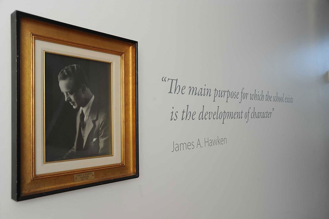 Quote - The main purpose for which the school exists is the development of character - James A. Hawken