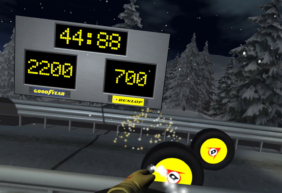 Virtual Reality Snowball Tire Game