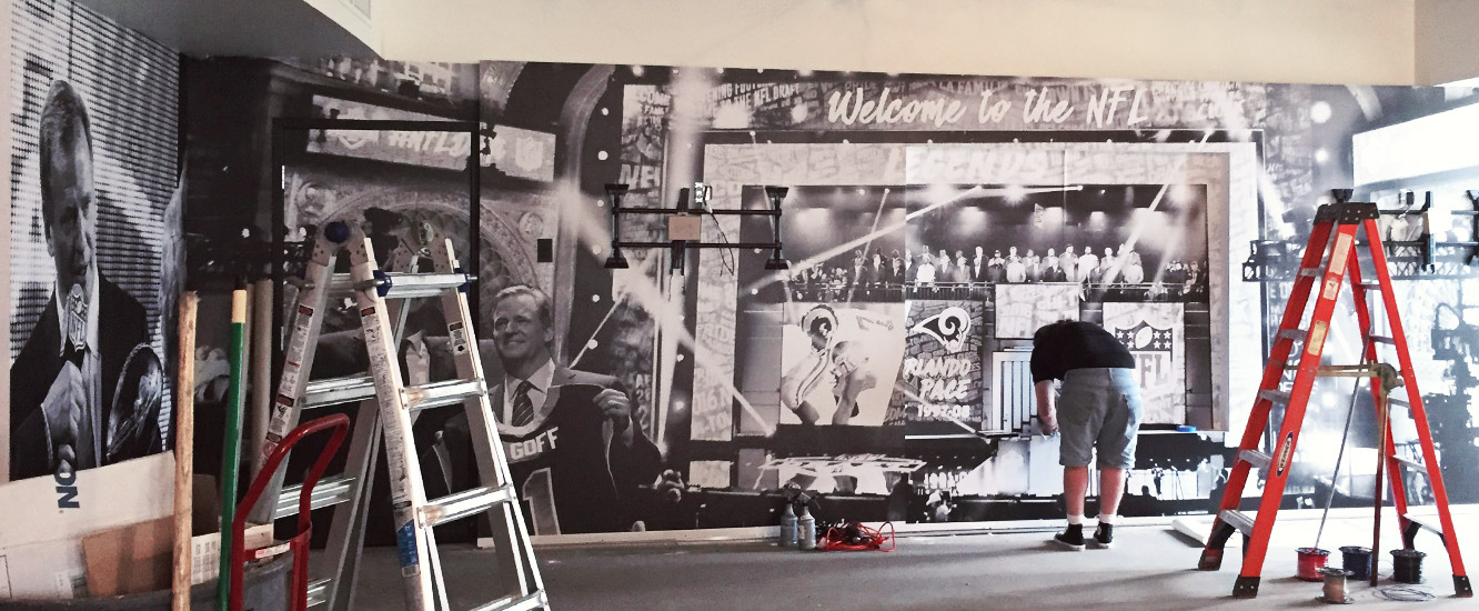 NFL Hall of Fame Graphics Installation