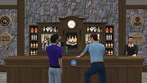 Networking Virtual Event Bar